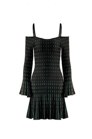 Vestido-Ombro-a-Ombro-textura-Verde