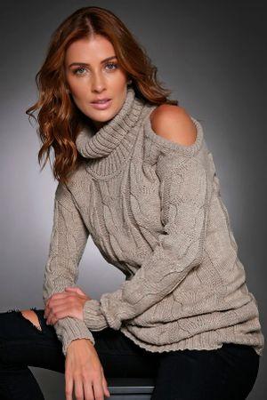 Pullover-dress-Fenda-Ombro-Cinza