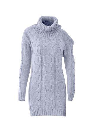 Pullover-dress-Fenda-Ombro-Azul