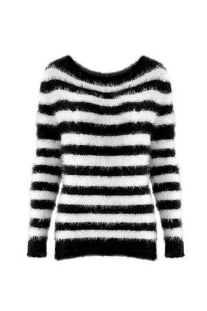 Sueter-Tricot-Striped-Angora-P-B
