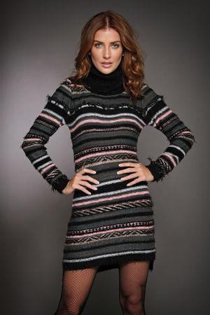 Pullover-dress-Franja-Preto