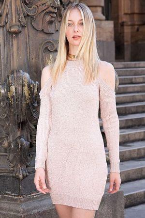 Vestido-Tricot-Ombro-Vazado-Rose
