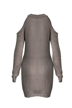 Vestido-Tricot-Ombro-Vazado-Cinza-2