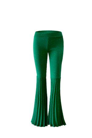 Calca-Shine-Lurex-Flare-Verde
