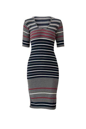 Vestido-Tricot-Stripes-Cinza