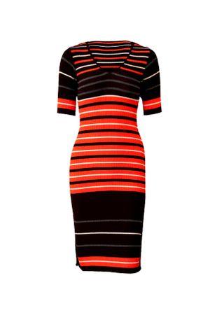 Stripes-Knit-Dress---orange