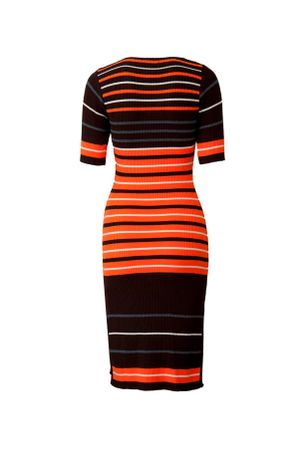 Stripes-Knit-Dress---orange-2