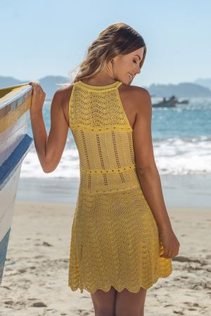 Wave-Knit-Dress---Yellow-4