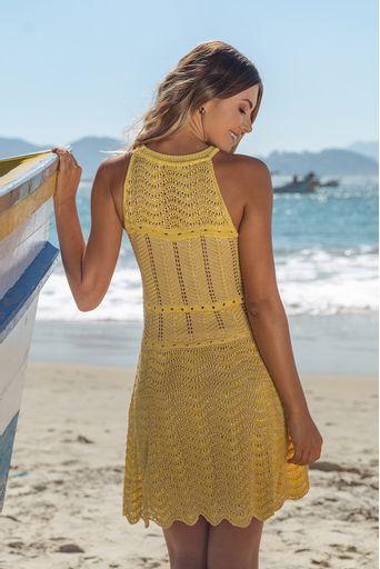 Wave-Knit-Dress---Yellow-4