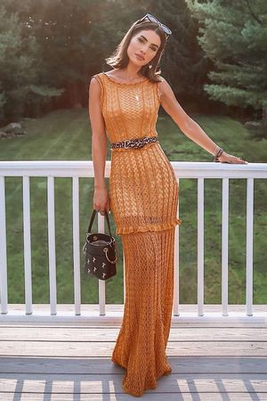 Vestido-Tricot-Amalia-Ouro