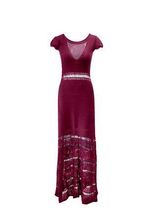 Vestido-Trico-Primavera-Longo-Marsala