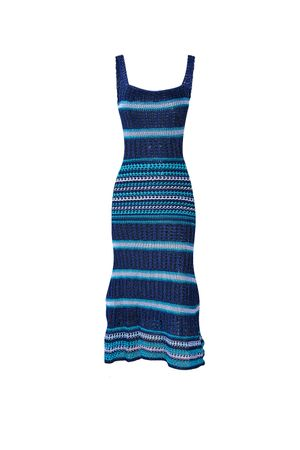 Melina-Knit-Dress---Blue