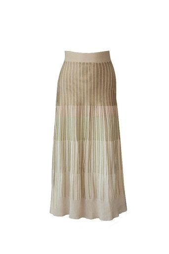 Kate-Lurex-Knit-Skirt---Green