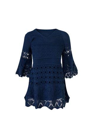 Vestido-Maria-Flor-Infantil-Azul-Marinho