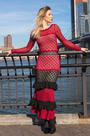 Vestido-Tricot-Longo-Cartagena-Vermelho