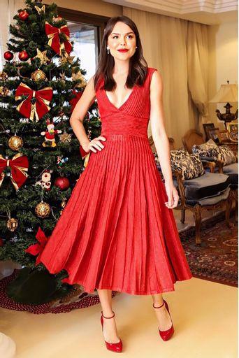 Vestido-Tricot-Aquamarine-Vermelho