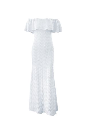 Shine-Mermaid-Knit-Dress---White