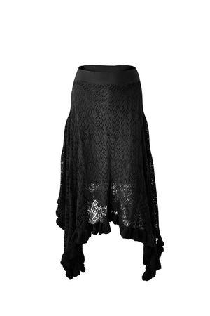 Catherine Knit Skirt Black