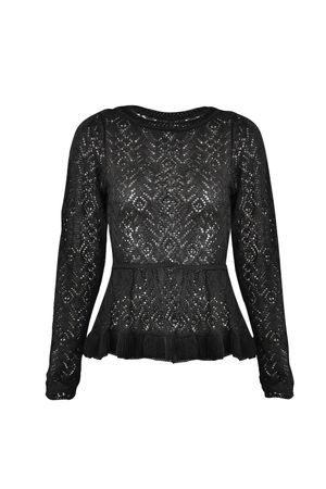 Catherine Knit Top - Black
