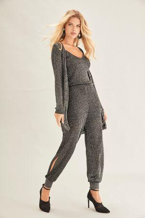 Charlize Knit Jumpsuit - Silver