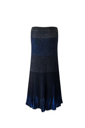 Saia Tricot Midi Cameron Azul