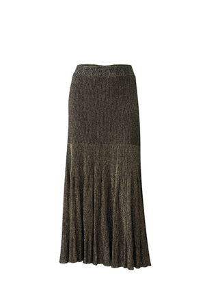 Bia-Lurex-Knit-Skirt---Gold