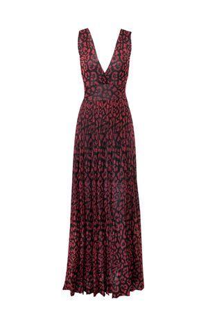 Vestido-Tricot-Animal-Print-Vermelho