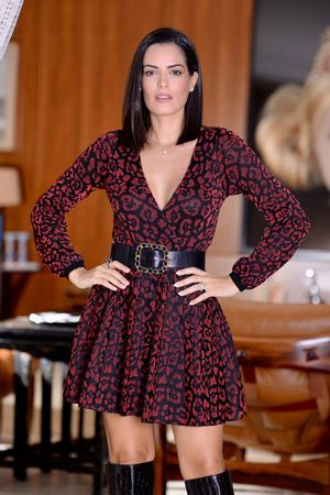 Vestido-Tricot-Onca-Vermelho