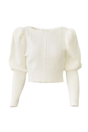 Blusa Cropped Tricot Trança Off Whit