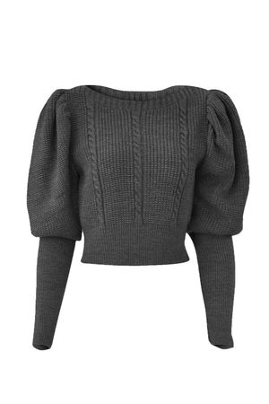 Blusa-Cropped-Tricot-Tranca-Chumbo
