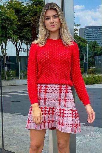 saia-tricot-curta-xadrez-vermelhamicaela