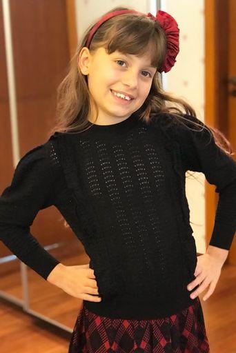 Blusa Tricot Melanie Preta MINI