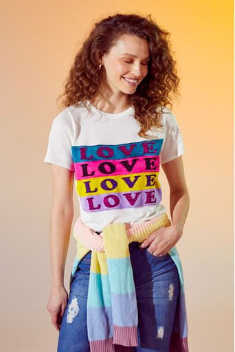 T-Shirt-Tricot-Love-Off-White-Principal