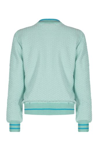 Blusa-Bomber-Tricot-Louise-Verde-Costas