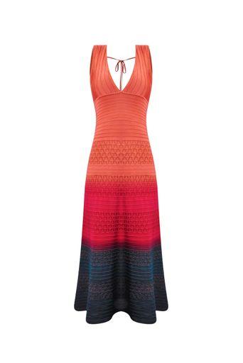 Vestido-Tricot-Midi-Vick-Tie-Dye-Coral-Frente