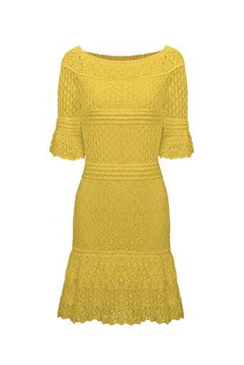 Vestido-Tricot-Nina-Amarelo-Frente
