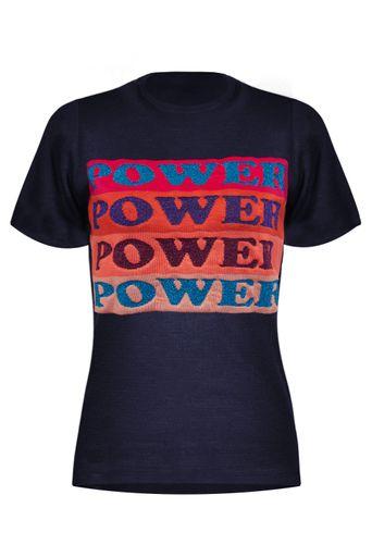 T-Shirt-Tricot-Power-Marinho-Frente