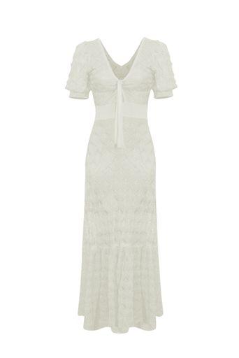 Vestido-Tricot-Longo-Cindy-Off-White-Frente