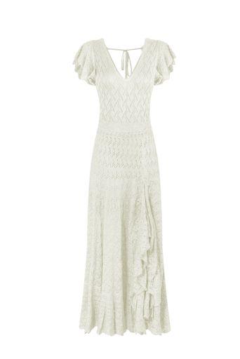 Vestido-Tricot-Longo-Silvie-Off-White-Frente