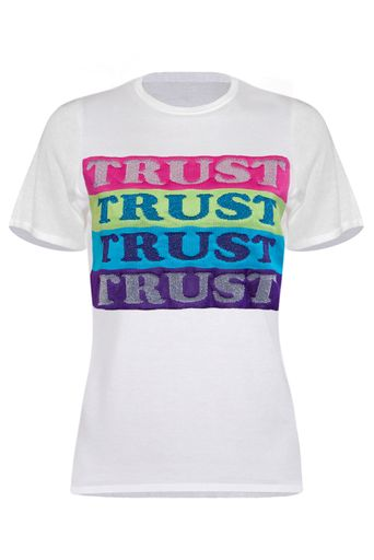 T-Shirt-Tricot-Trust-Off-White-Frente
