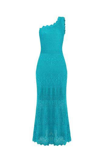 Vestido-Tricot-Longo-Mikonos-Turquesa-Frente