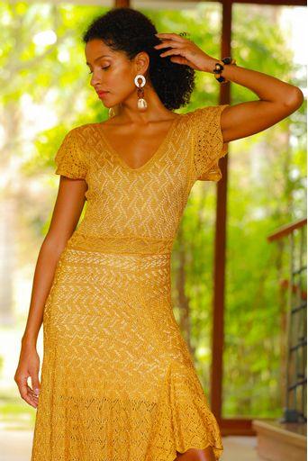 Vestido-Tricot-Longo-Silvie-Ouro-Close-1