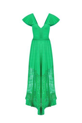 Vestido-Tricot-Longo-Afrodite-Menta-Frente