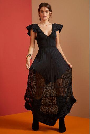 Vestido-Tricot-Longo-Afrodite-Preto-Costas