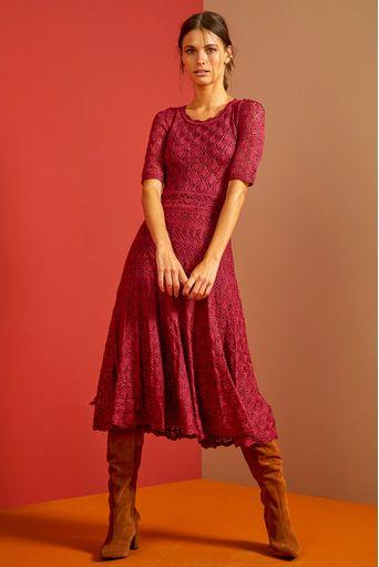 Vestido-Tricot-Midi-Noemia-Rosa-Hibisco-Principal