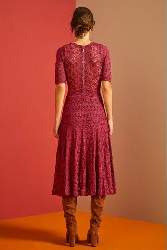 Vestido-Tricot-Midi-Noemia-Rosa-Hibisco-Costas