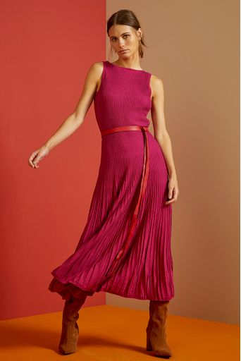 Vestido-Tricot-Midi-Vivian-Rosa-Hibisco-Costas