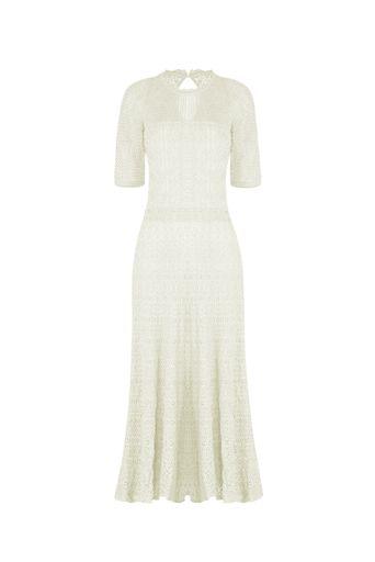 Vestido-Tricot-Midi-Ariel-Off-White-Frente