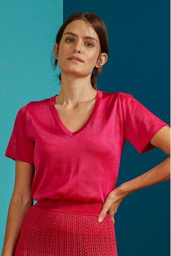 T-Shirt-Tricot-Clarissa-Pink-Costas