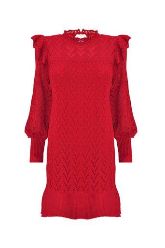 Vestido-Tricot-Olimpia-Vermelho-Frente